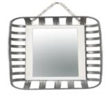 Metal Basket Wall Mirror