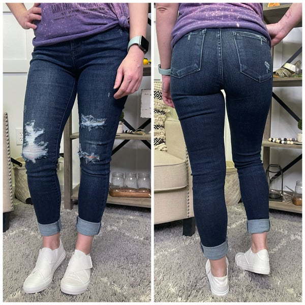 The Shelby Distressed Judy Blue Jeans
