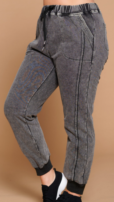 Grey Washed Joggers