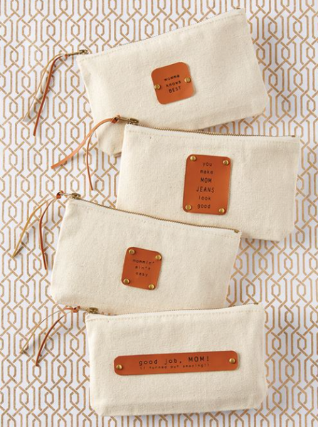 Mom Canvas Pouch - 4 Sayings!