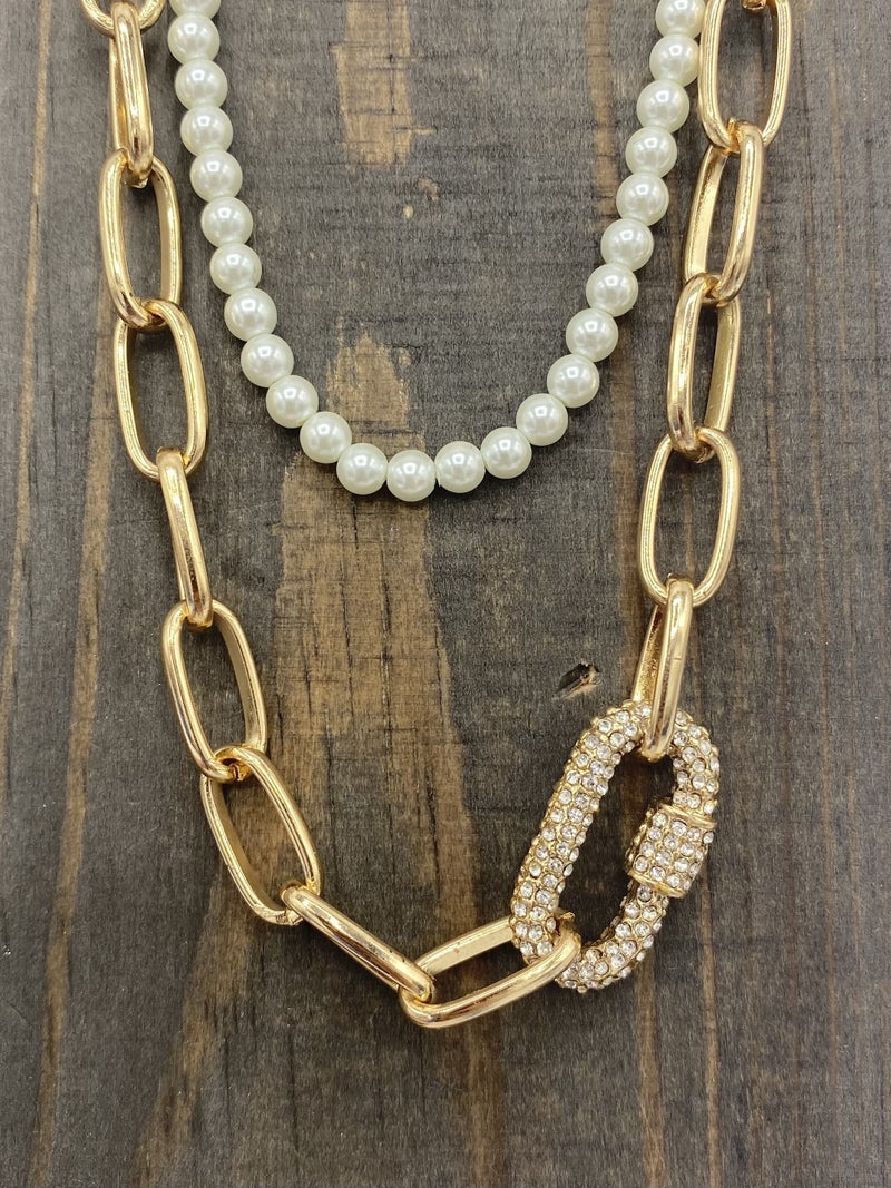 Double Layered Necklace - 2 colors!