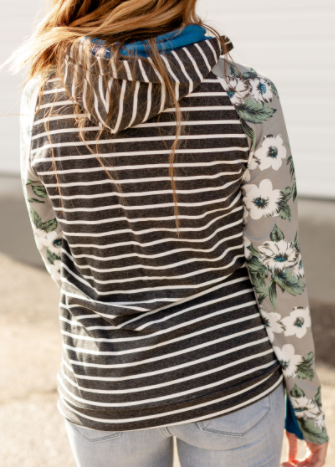 Sweet Intentions Ampersand Avenue Double Hooded Sweatshirt