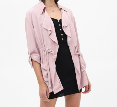 Dusty Rose Layered Jacket