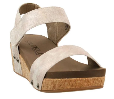 Golden Metallic Wedge Sandal