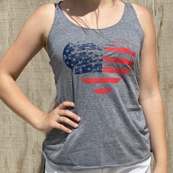 Heathered Grey America's Sweetheart Tank