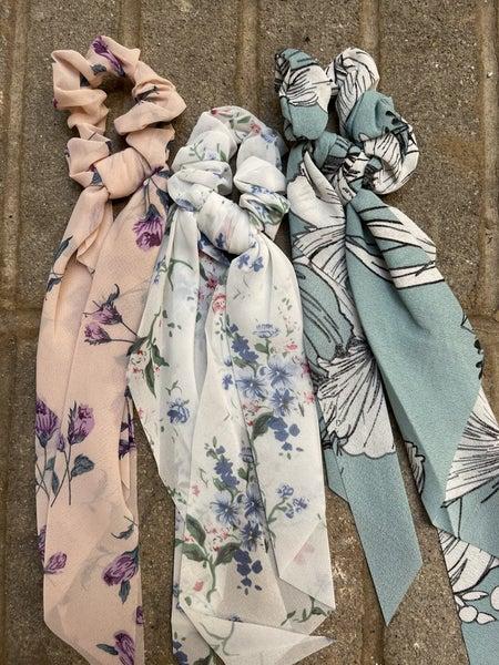 Floral Scrunchie - 3 colors!