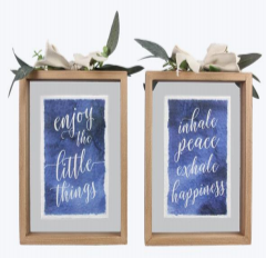 Wood Frame Floating Wall sign -2 options