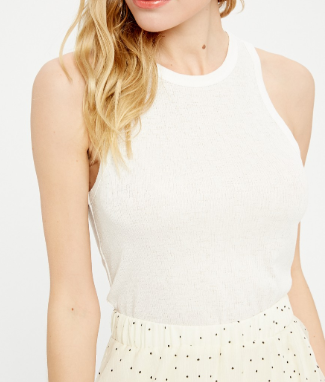 Sleeveless Ribbed Knit Top - 2 colors!