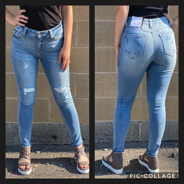 High Rise Distressed KanCan Skinny Jeans