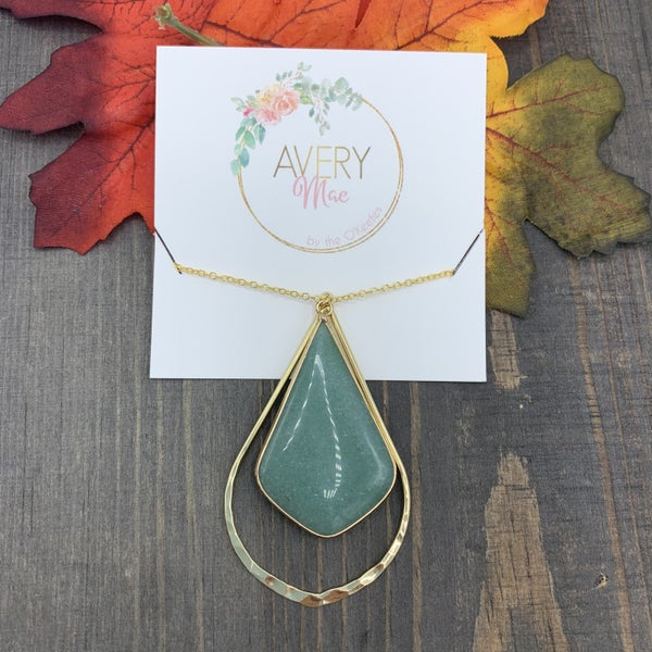 Teal Druzy Avery Mae Exclusive Necklace