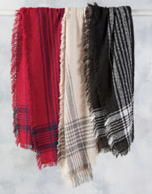 Stay Cozy Square Scarf- 3 colors!