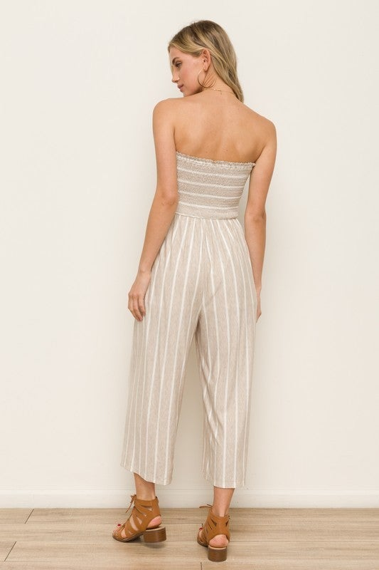 All The Style Stripe Jumpsuit  - 5 colors! - Sage