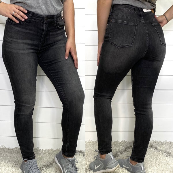 Grey Washed High Waist Judy Blue Jeans