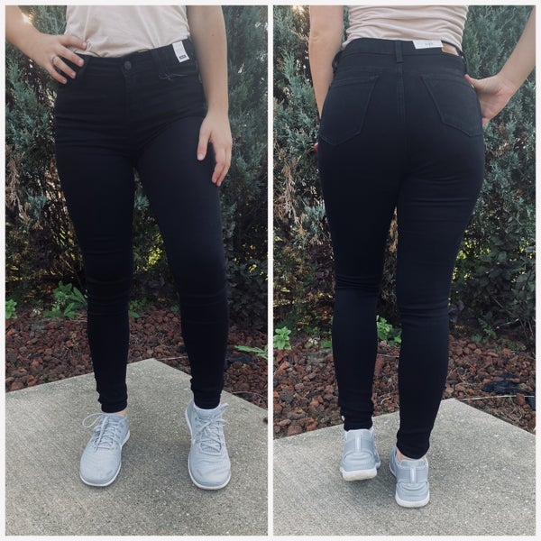 Mid Rise Non Distressed Black Judy Blue Jeans