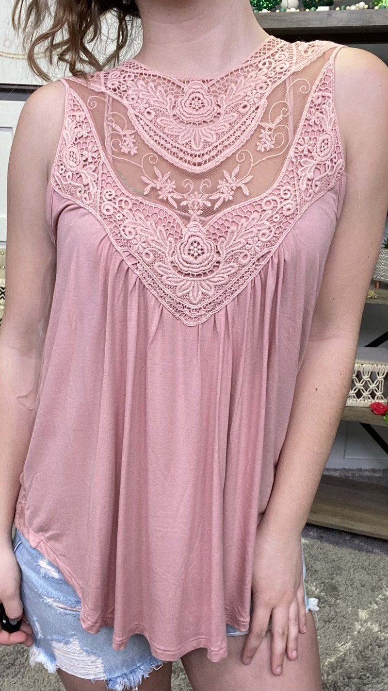 Lace Her Up Tank - 2 colors!