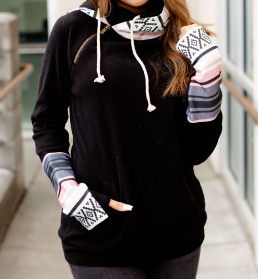 Ready for Anything Ampersand Avenue Double Hooded Hoodie