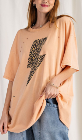 Electrifying Oversized Top - 2 colors!