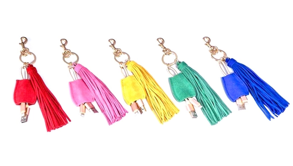 USB Charging Keychain - 5 colors!
