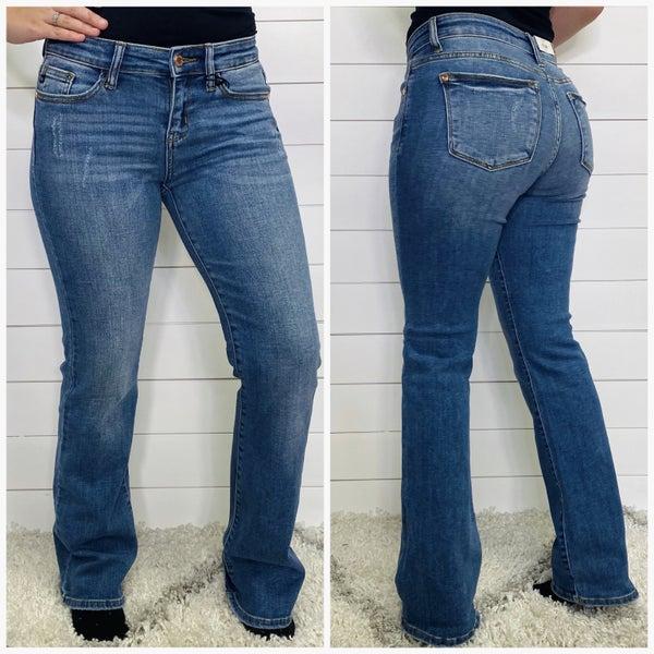 Medium Wash Mid Rise Boot Cut Judy Blue Jeans