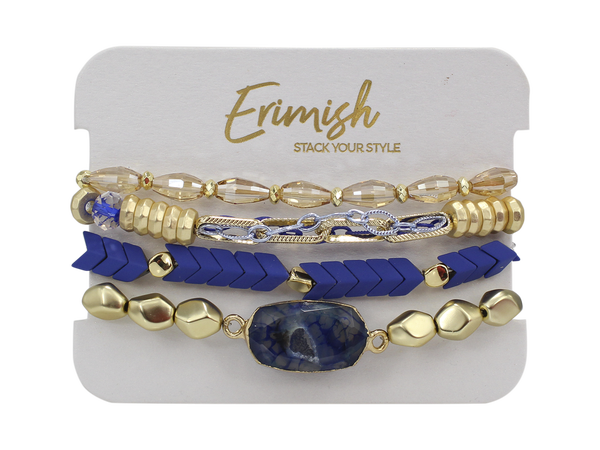 Erimish Arrow Blue Stretch Bracelets