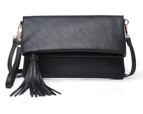 Vegan Leather Flapover Crossbody with Tassel - 5 colors!