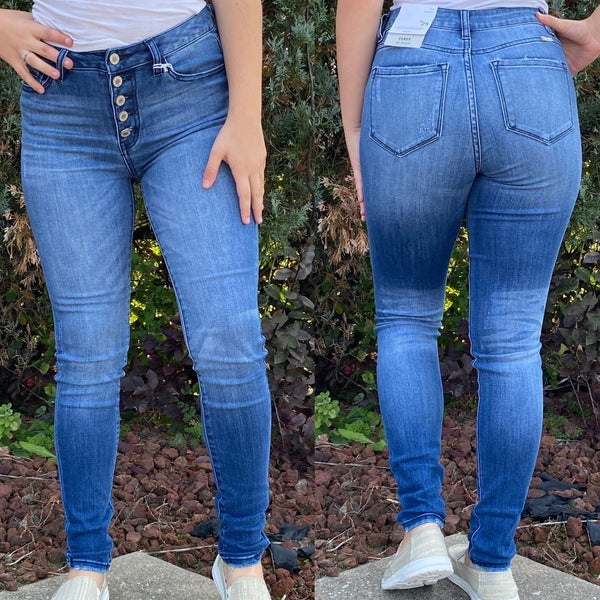 High Rise Non Distressed KanCan Jeans