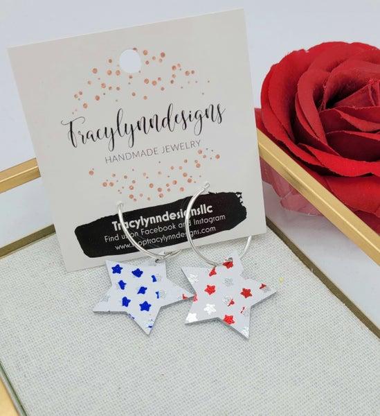 Red, White, & Stars Earrings