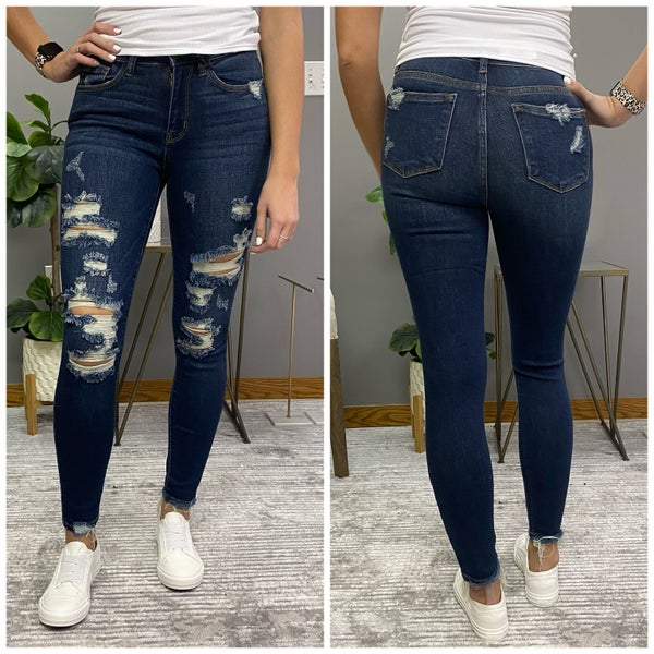 Mid Rise Destroyed Judy Blue Jeans