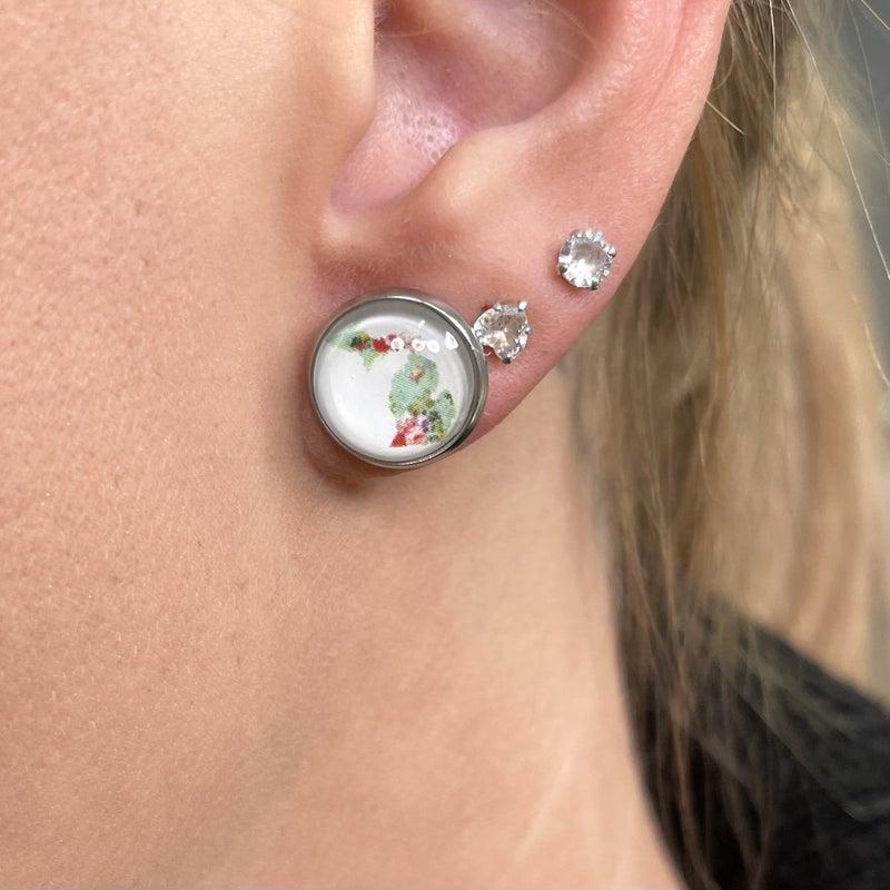 Pure Michigan Stud Earrings