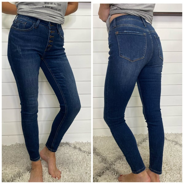 Button Fly Judy Blue Skinny Jeans