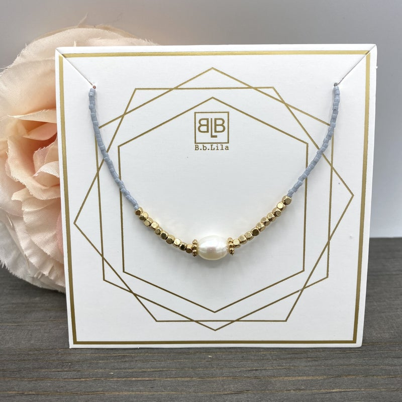 Pearl Girl B.B Lila Necklace - 2 colors!