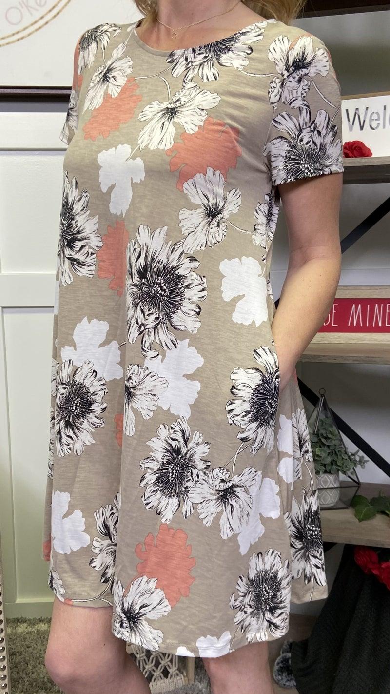 Floral Sand Honeyme Dress