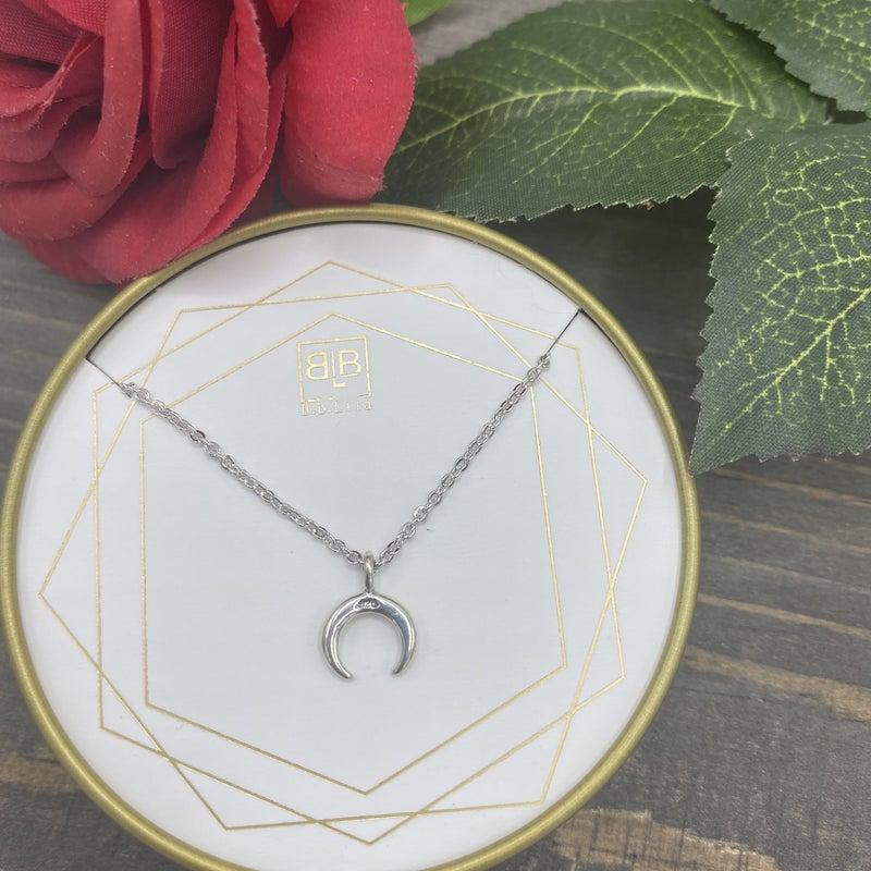 B.B.Lila Mini Crescent Necklace