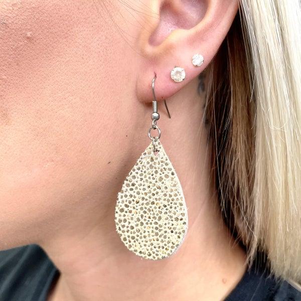 Rose Gold Stingray Earrings