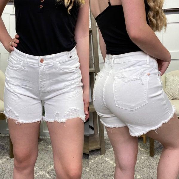 The Sky White Judy Blue Shorts