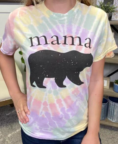 Mama Bear Tie Dye Tee