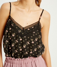 Lace Detail Print Cami
