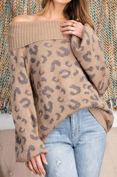 Night Leopard Sweater