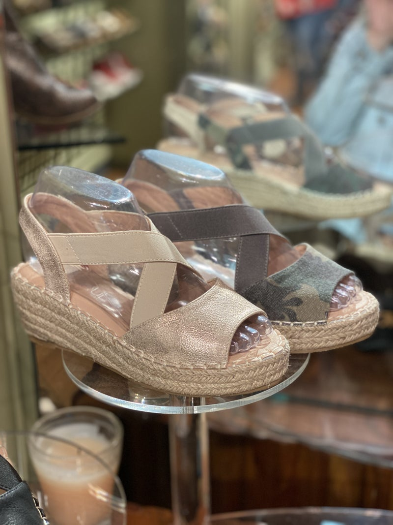 Strapped up Woven Corky Wedge - 3 colors!
