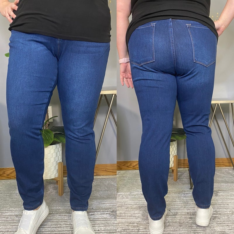 Dark Wash Judy Blue Thermal Jeans