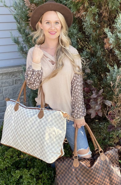 Classic Checkered Weekender Bag - 2 colors!