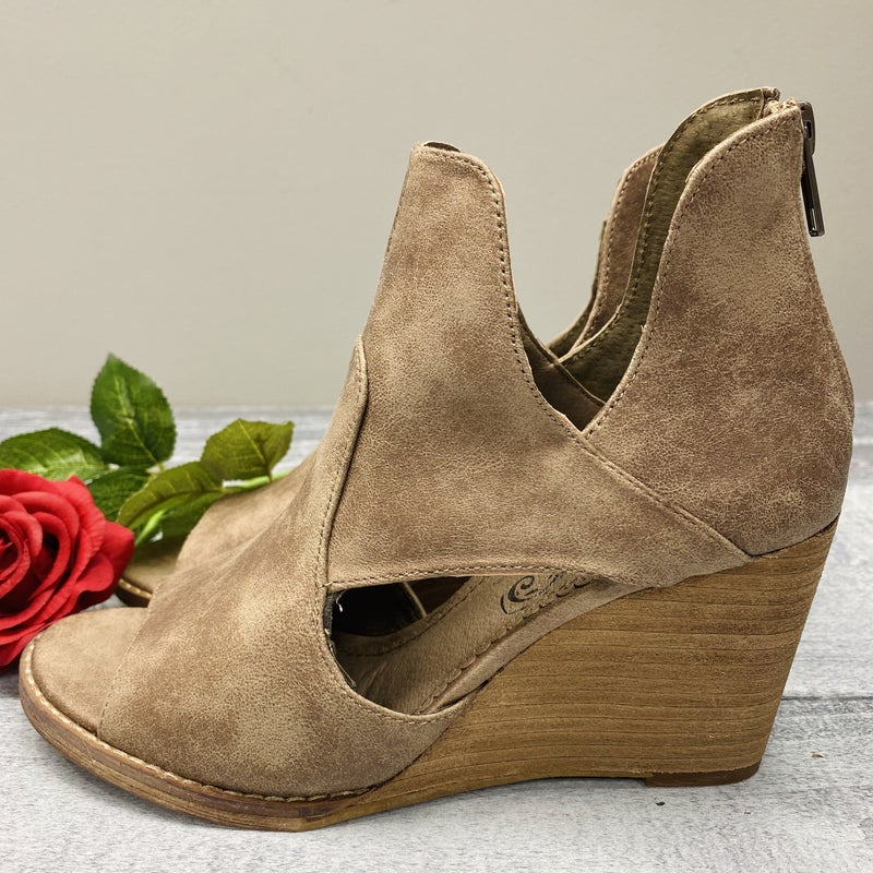 Be You Taupe Heels
