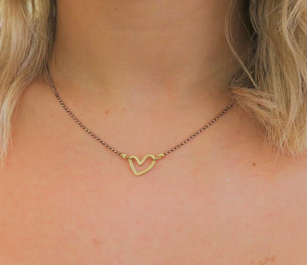 Handmade Open Your Heart Bronze Necklace