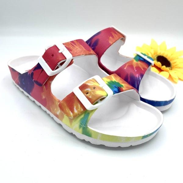 Slipping into the Rainbow Sandal