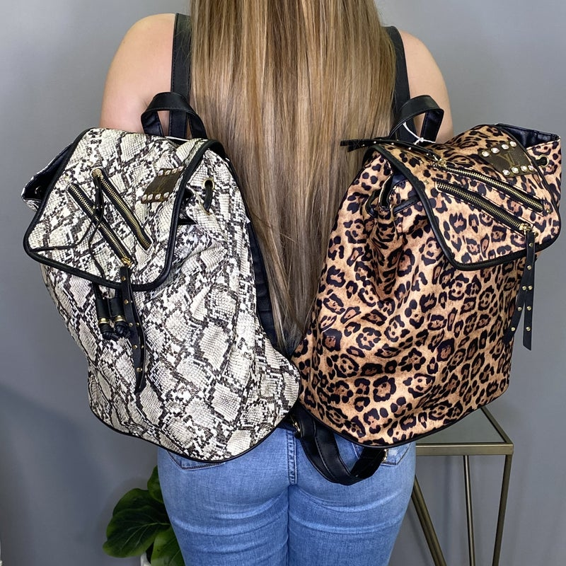 Up-Cycled Designer Boujee Backpacks - 2 colors!