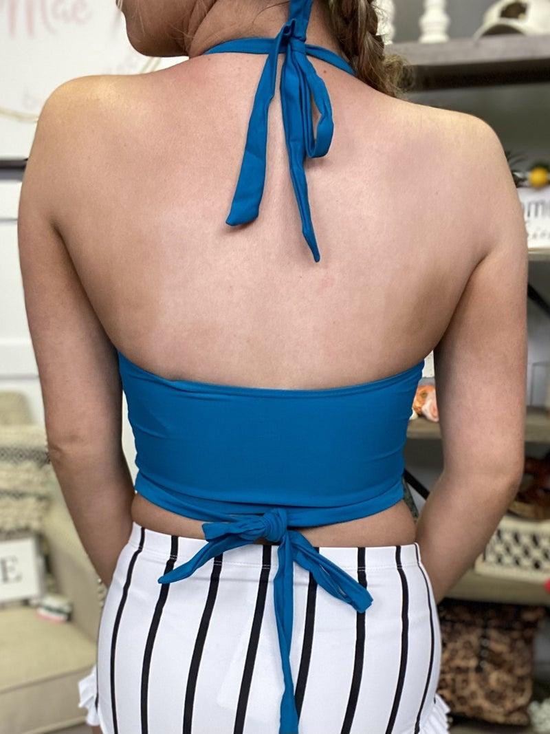 Blue Honey Swim Top
