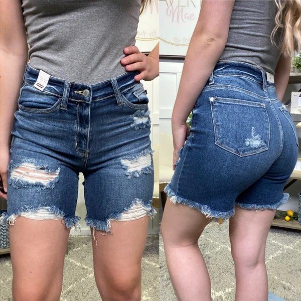 The Sawyer High Rise Judy Blue Bermuda Shorts