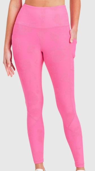 Textured Roses High-waisted Leggings - 2 colors!