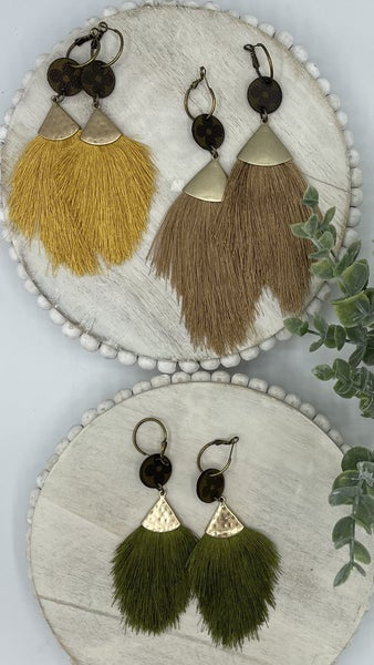 Make a Point Up-Cycled Earrings - 3 colors!