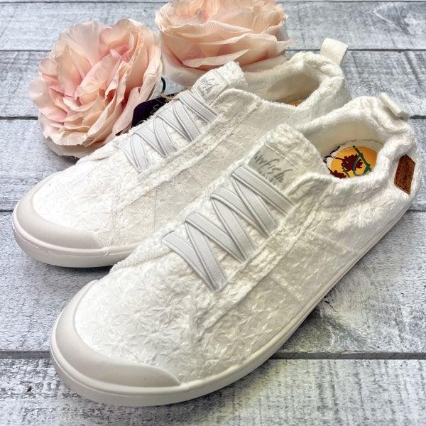 White Eyelet Blowfish Sneakers